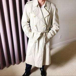 Vintage Burberry Trench Coat Tan 44 R